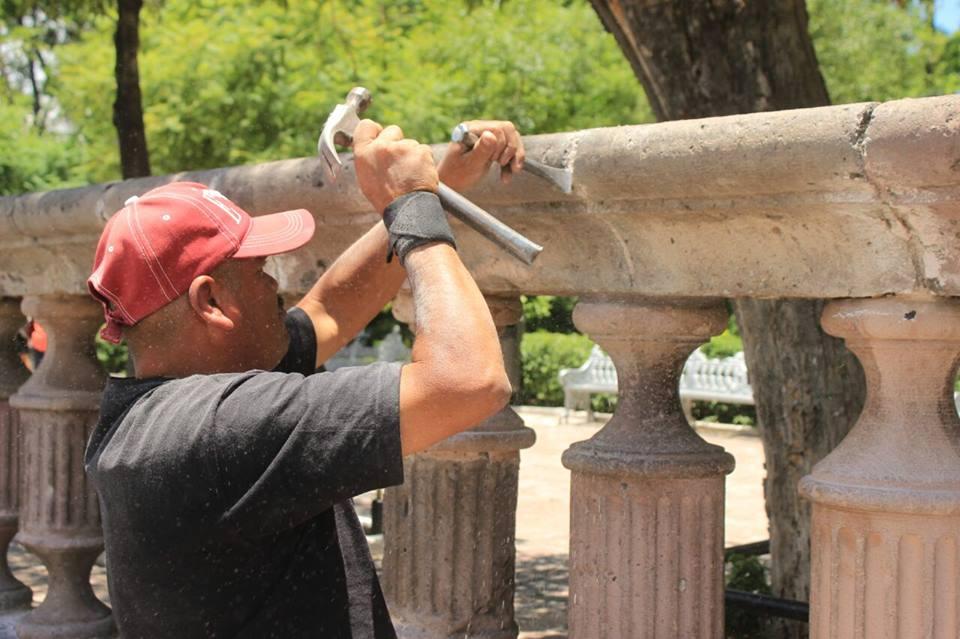 Corregidos, los errores con la balaustrada del Jardín de San Marcos